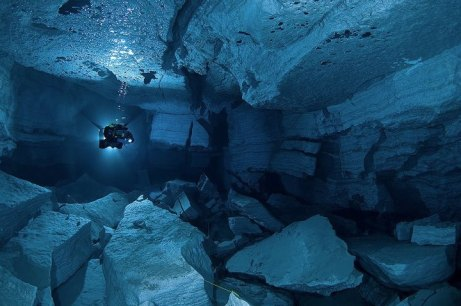 1X - Landslide Hall by Viktor Lyagushkin — at Orda cave. Perm. Ural. Russia.
