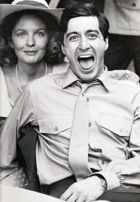 diane-keaton-and-al-pacino-on-the-set-of-the-godfather